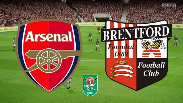 Arsenal vs Brentford (01h45 ngày 27/9: Cúp Liên đoàn bóng đá Anh)