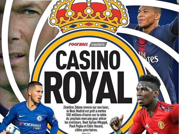 Tin bóng đá quốc tế 28/3: Real Madrid có 500 triệu euro mua Hazard, Mbappe và Pogba