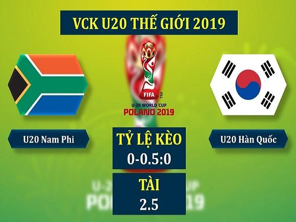 Soi kèo U20 Nam Phi vs U20 Hàn Quốc, 1h30 ngày 29/05