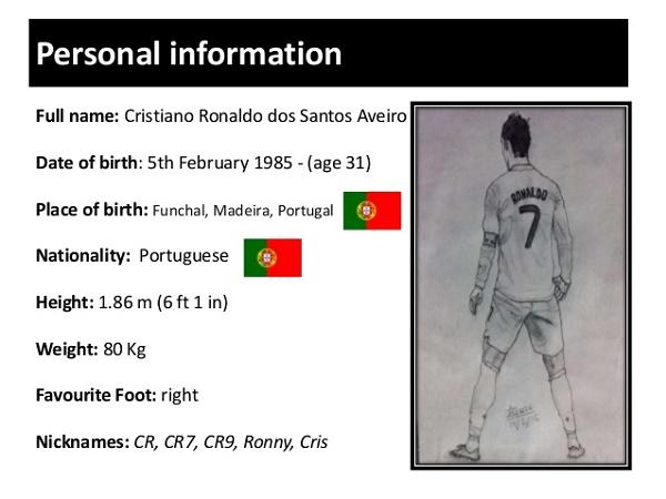 Chiều cao của Ronaldo bao nhiêu? Những lợi thế từ chiều cao này