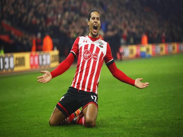 Virgil van Dijk trong màu áo của Southampton