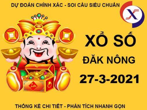 Thống kê SXDNO thứ 7 ngày 27/3/2021
