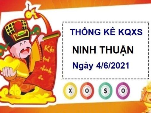Thống kê KQXSNT ngày 4/6/2021 – Thống kê xổ số Ninh Thuận thứ 6