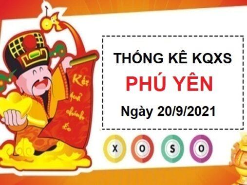 Thống kê xổ số Phú Yên ngày 20/9/2021 hôm nay thứ 2